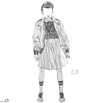 Stranger Things Coloring Pages Eleven no face