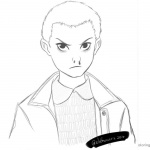 Stranger Things Coloring Pages Eleven sketch by enzeruwings