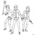 Stranger Things Coloring Pages Kids Ready to Fight
