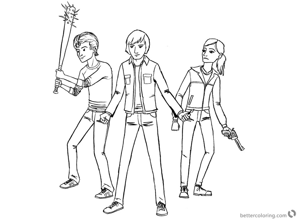 Stranger Things Coloring Pages Kids Ready to Fight printable