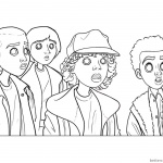 Stranger Things Coloring Pages Kids art by diana david