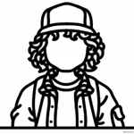 Stranger Things Coloring Pages No Face Dustin Henderson