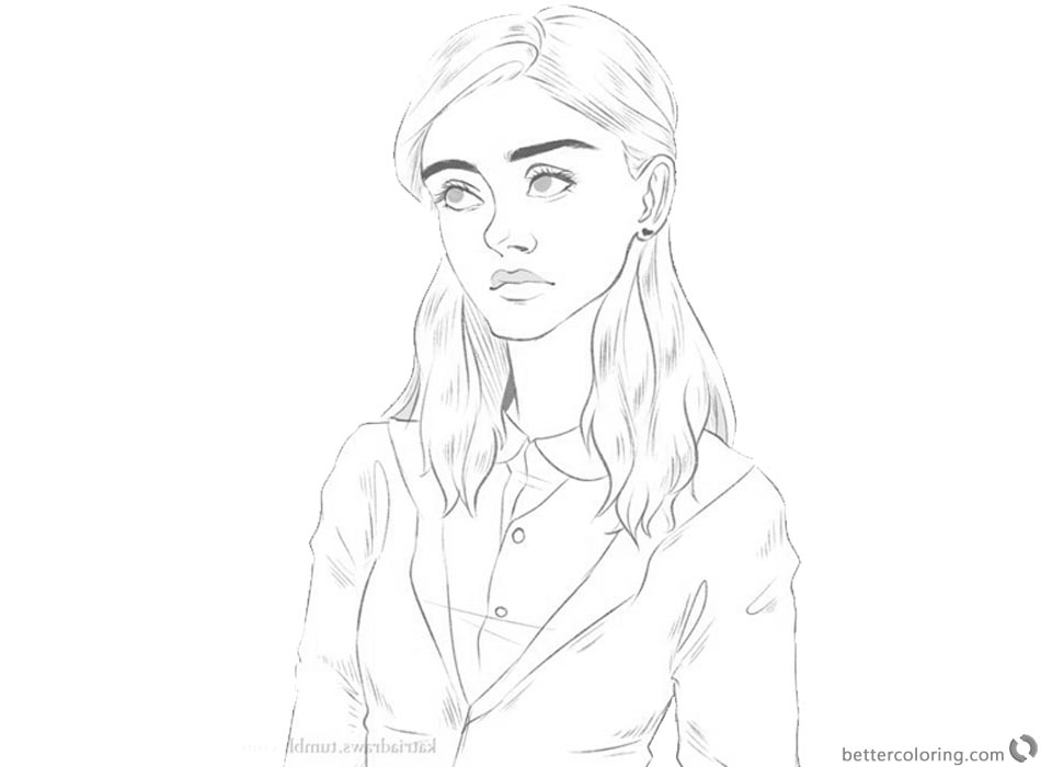 Stranger Things Coloring Pages Nancy Wheeler Awesome Art printable
