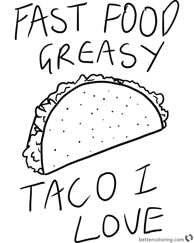 Taco Bell Coloring Pages printable