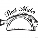 Taco Coloring Page Best mates with Fish