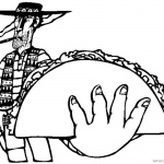 Taco Coloring Page Cool Bandit with Taco Drawing by Drewesfish588