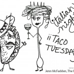 Taco Coloring Page Italian night