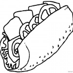 Taco Coloring Page Sketch Picture