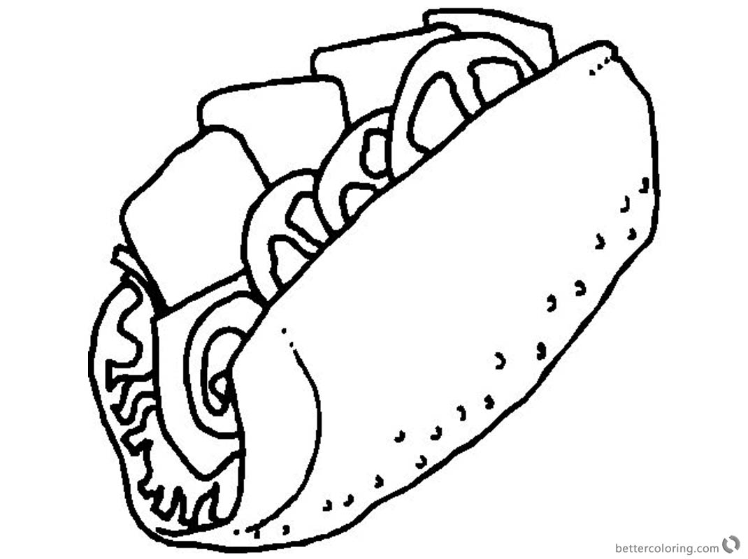 Taco Coloring Page Sketch Picture - Free Printable ...