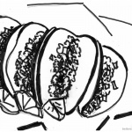 Taco coloring page Four Tacos