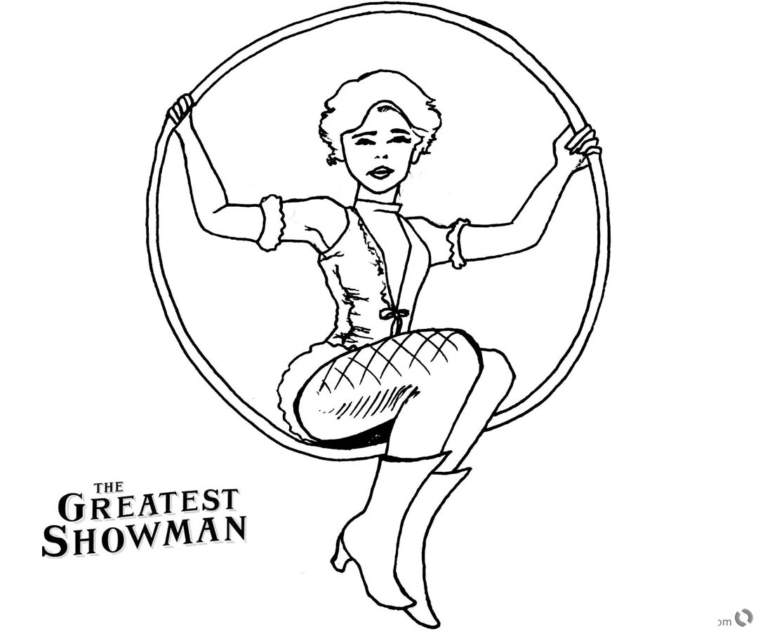 The Greatest Showman Coloring Pages Anne Wheeler Drawing