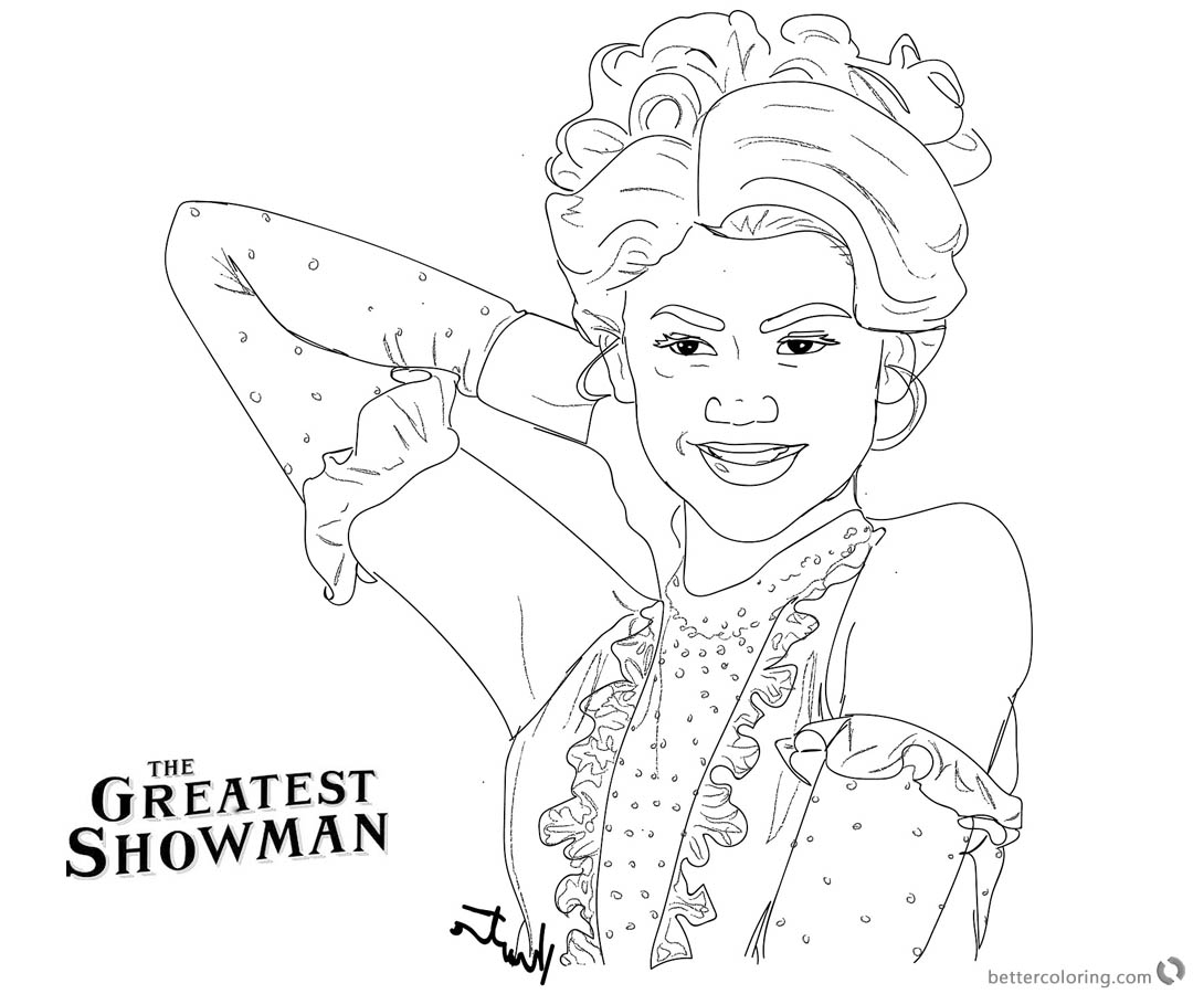 the greatest showman coloring pages | The Greatest Showman Anne Wheeler Coloring Pages Zendaya ...