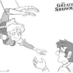 The Greatest Showman Coloring Pages Cartoon Characters