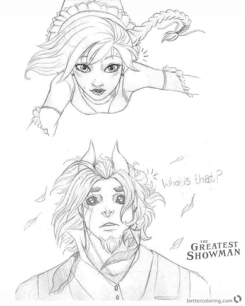 The Greatest Showman Coloring Pages Cartoon Drawing Who is that printable