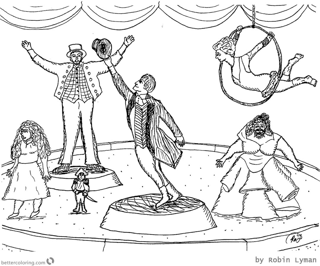 The Greatest Showman Coloring Pages Great Drawing printable