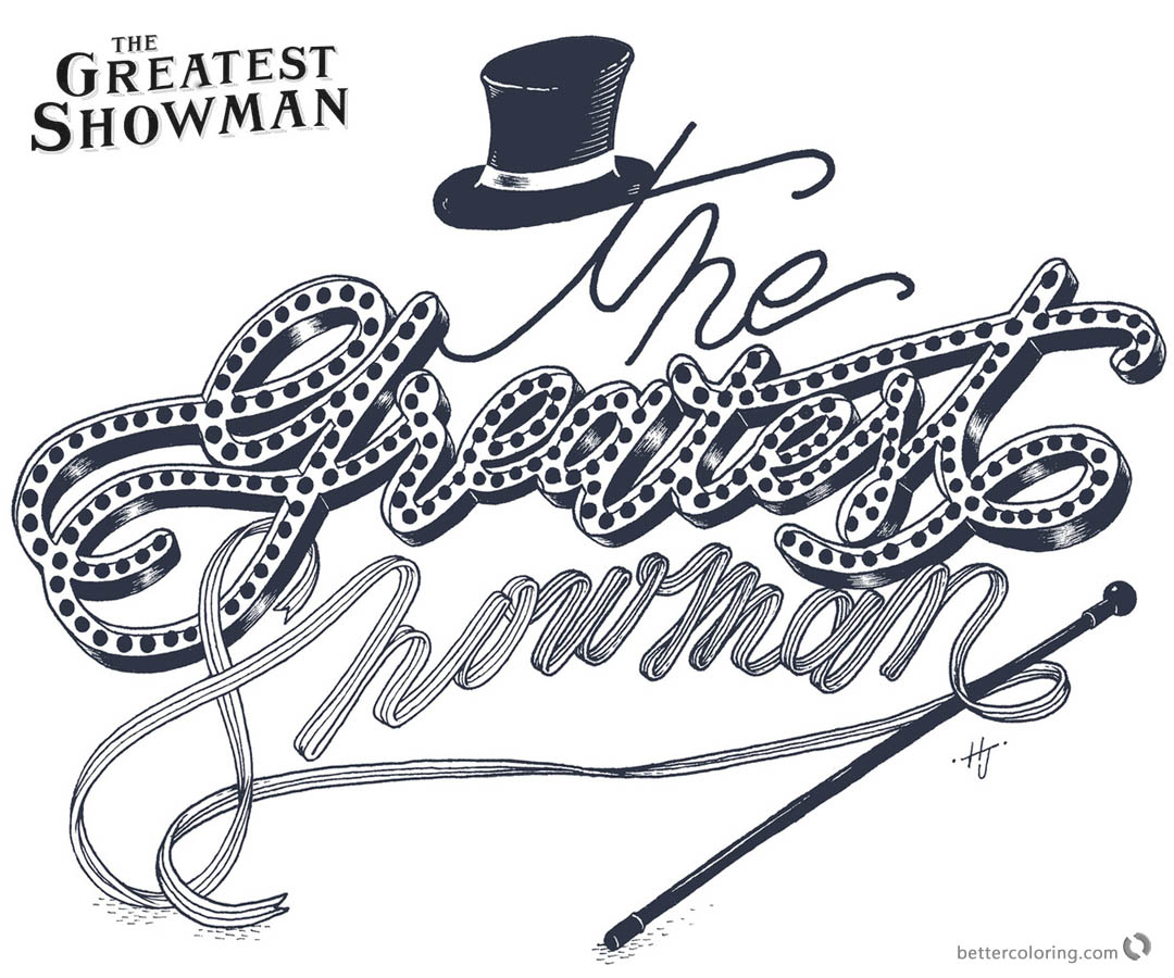The Greatest Showman Coloring Pages Letters Art printable