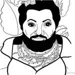 The Greatest Showman Coloring Pages Lettie Fan art Black and White