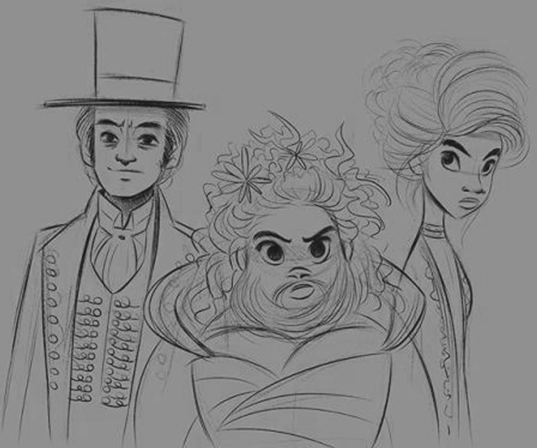 The Greatest Showman Coloring Pages Lettie Lutz Phillip and Anne Wheeler printable