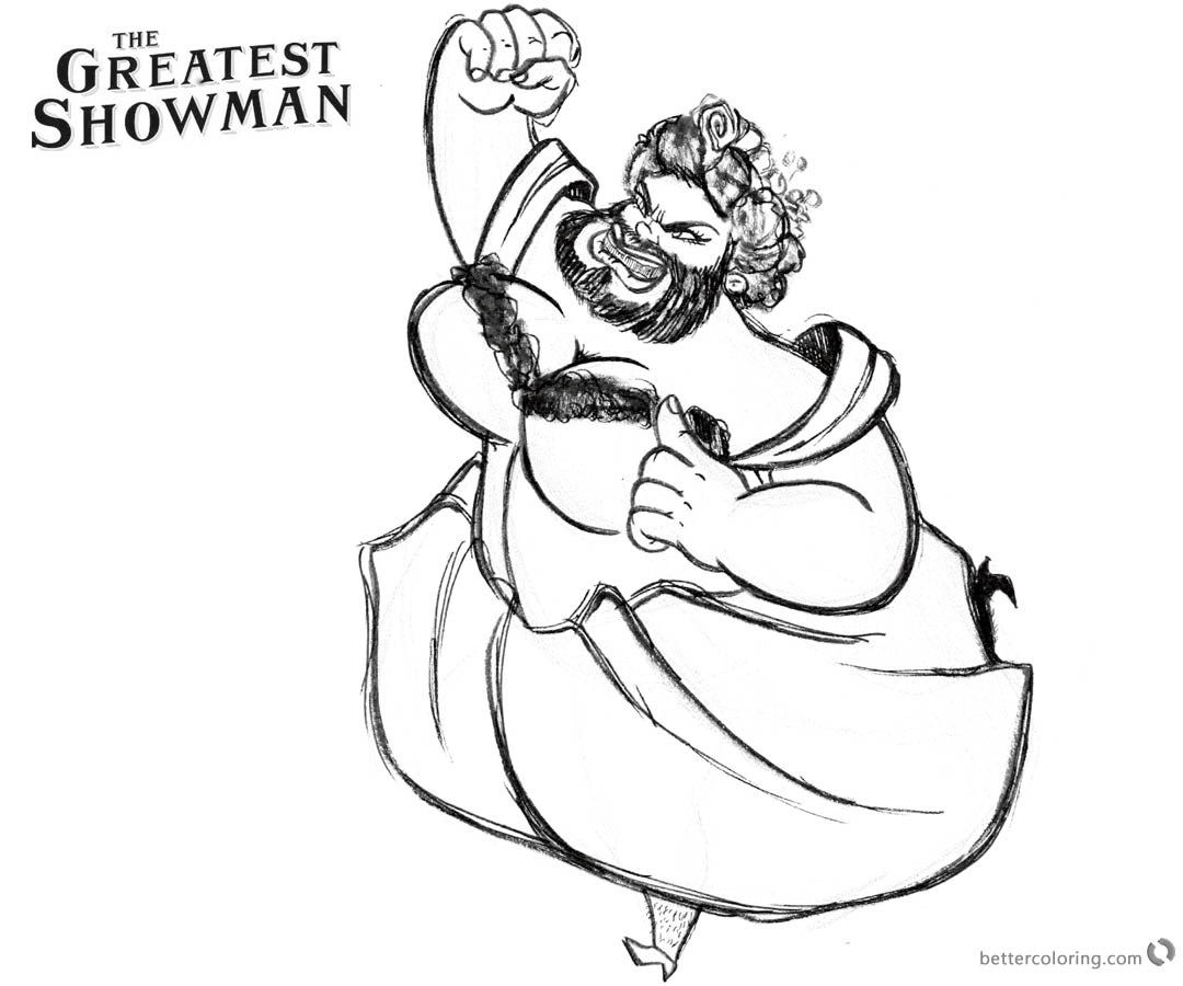 The Greatest Showman Coloring Pages Lettie printable