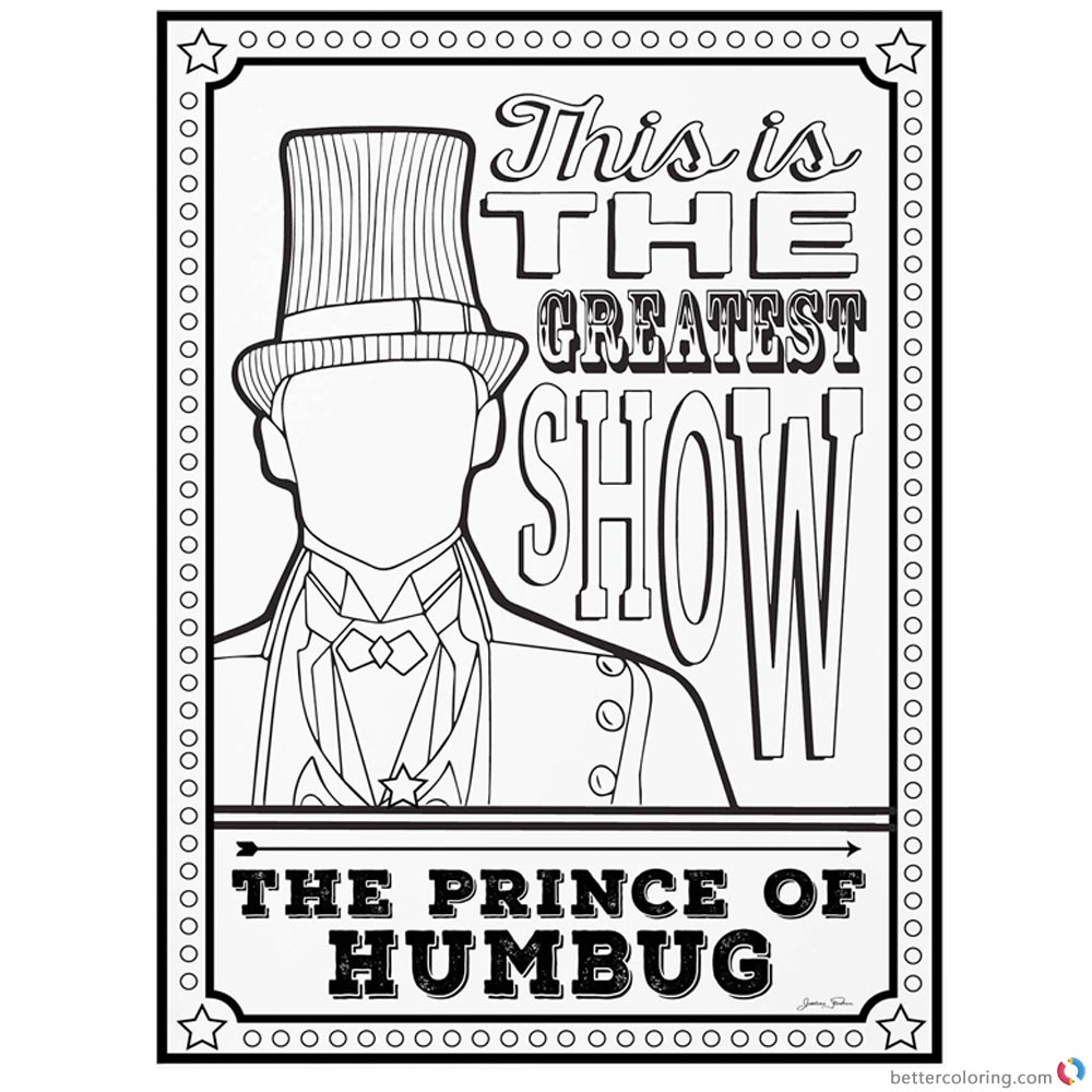 The Greatest Showman Coloring Pages The Prince Of Humbug