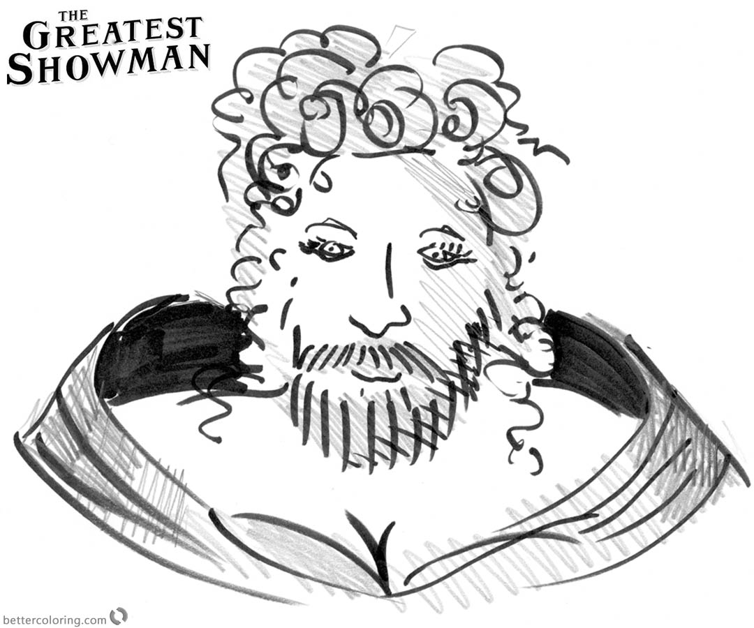 The Greatest Showman Coloring Pages This is Me printable