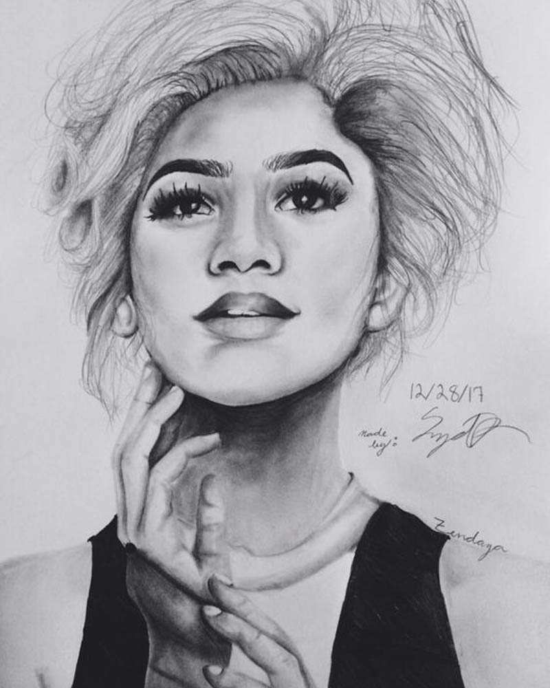 coloring pages of zendaya - photo#28