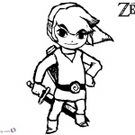 The Legend of Zelda Coloring Pages Link Sketch Art