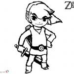 The Legend of Zelda Coloring Pages Link Sketch Art