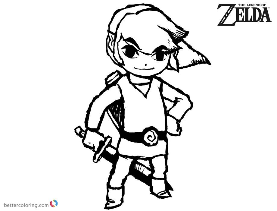 Monster Legends Coloring Pages Sketch Coloring Page: The Legend Of Zelda Coloring Pages Link Sketch Art