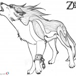 Legend of Zelda Wolf Coloring Pages Sketch