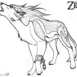 Legend of Zelda Wolf Coloring Pages Sketch