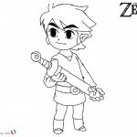 Cute Toon Link from Zelda Coloring Pages
