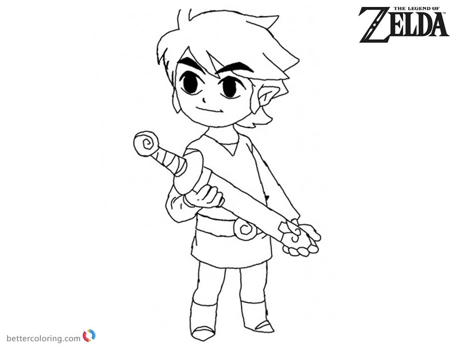 minish cap coloring pages - photo#9