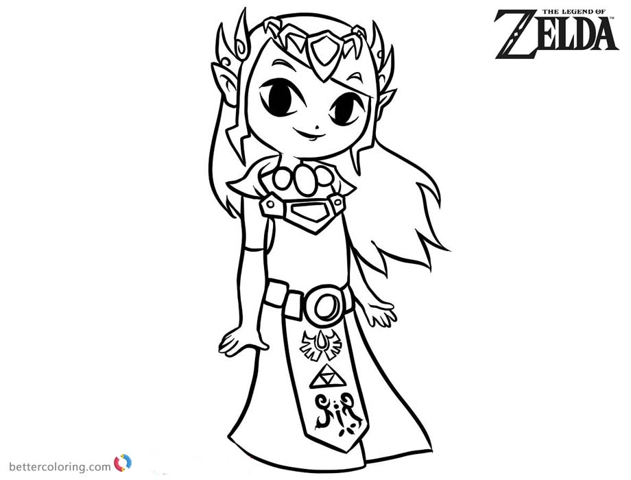 Toon Zelda Coloring Pages printable for free