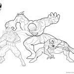 Venom Coloring Pages Anti Venom Spidey Strider