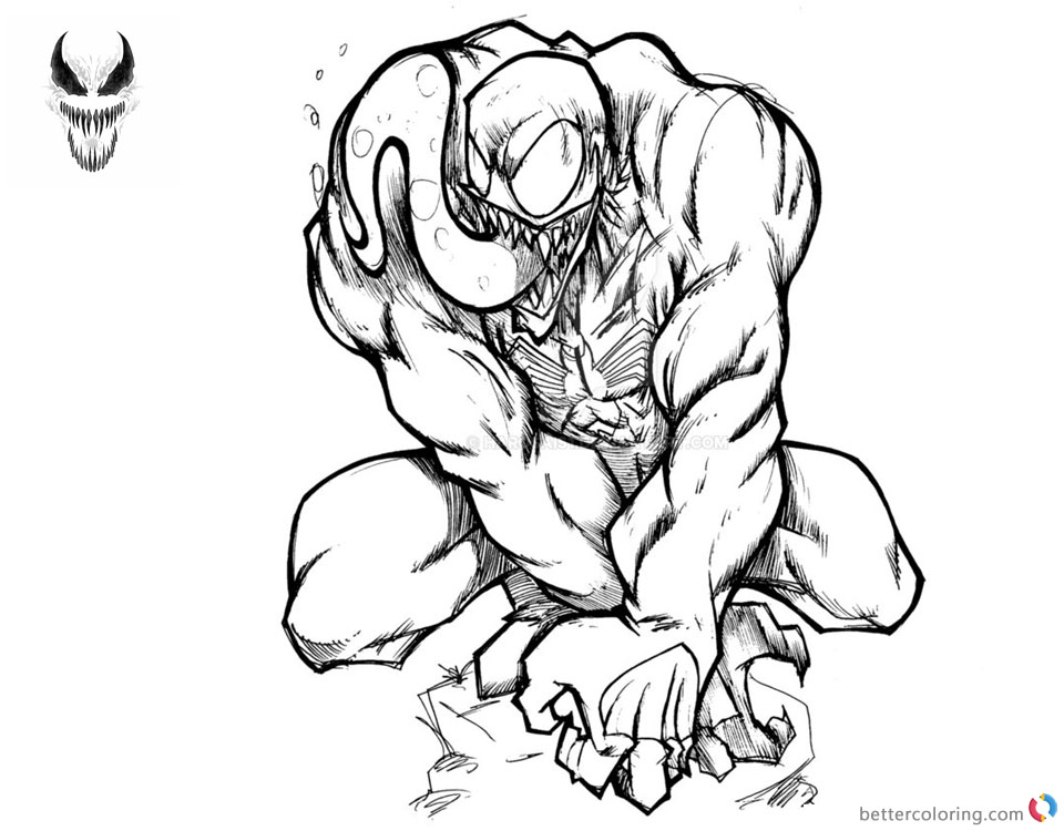 venom coloring pages for kids | Venom Coloring Pages Awesome Picture by harosais1 - Free ...
