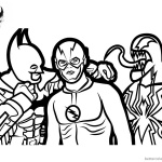 Venom Coloring Pages Batman Venom and The Flash