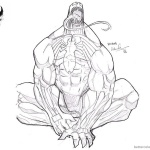 Venom Coloring Pages Cool Sketch by truze