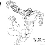 Venom Coloring Pages Fabulous Fanart Picture