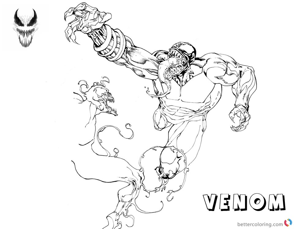 Venom Coloring Pages Fabulous Fanart Picture printable and free