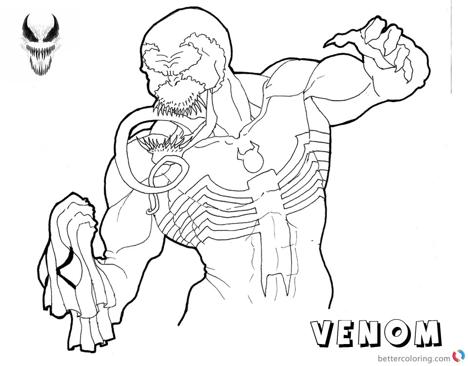 Venom Coloring Pages Fabulous Lineart by jester_in_crisis printable and free