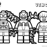 Venom Coloring Pages Lego Venom Spider Marvel Heroes