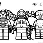 Venom Coloring Pages Lego Venom Spider Marvel Heroes