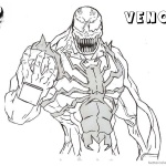 Venom Coloring Pages Lineart Drawing by noname37
