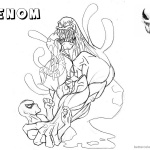 Venom Coloring Pages Lineart Picture by anthros
