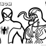 Venom Coloring Pages Simple Lineart Picture