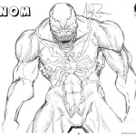 Venom Coloring Pages Sketch Picture by archonyto
