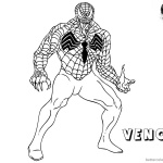 Venom Coloring Pages Spider Venom