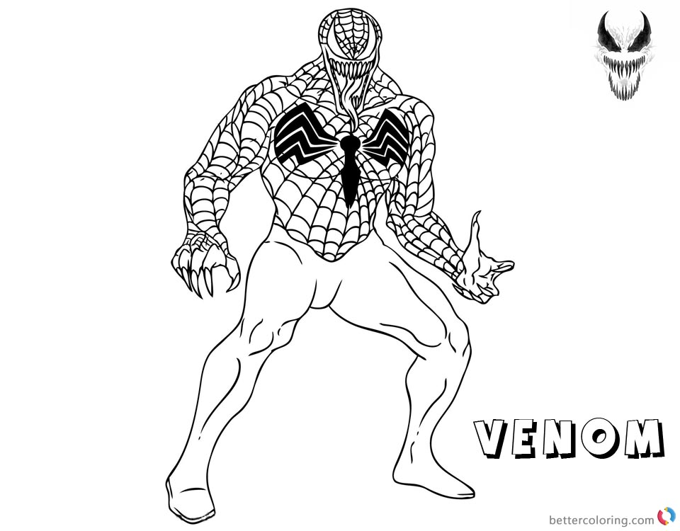 Venom Coloring Pages Spider Venom printable and free