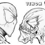 Venom Coloring Pages Spider man and Venom Uncolored
